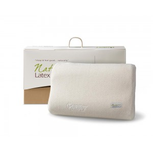 Natural Latex Linen Pillow Cream