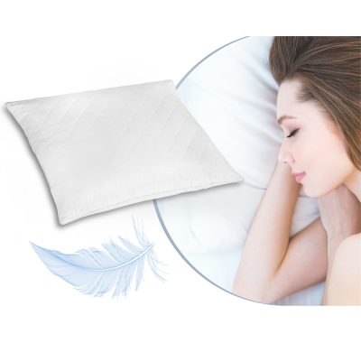 Deluxe Comfort 100% Feather Pillow White #5