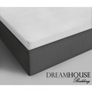 Dreamhouse Bedding Katoenen Topper Hoeslaken - Wit