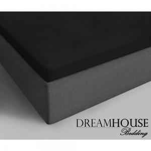 Dreamhouse Bedding Katoenen Topper Hoeslaken - Zwart