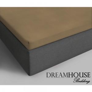 Dreamhouse Bedding Katoenen Topper Hoeslaken - Taupe